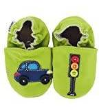 Hobea Germany Baby Shoes (Size 2/3, 6-12 Months, Car with Traffic Light)