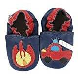 Hobea Germany Baby Shoes (Size 7/8, 24-30 Months, Fire Engine with Fire)