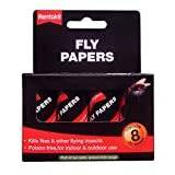 Rentokil FF89 Pesticide Free Fly Paper (Pack of 8)