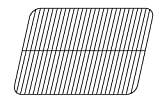 Music City Metals 50111 Porcelain Steel Wire Cooking Grid for Manhattan Brand Gas Grills - Black