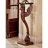 Design Toscano the Griffin of Hanover Pedestal with Marble Top