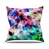 "KESS InHouse GF1028AOP03 18 x 18-Inch ""Gabriela Fuente Party Pastel Abstract"" Outdoor Throw Cushion - Multi-Colour"