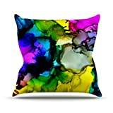 "KESS InHouse CD1013AOP03 18 x 18-Inch ""Claire Day A Little Out There"" Outdoor Throw Cushion - Multi-Colour"