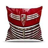 """KESS InHouse IR2013AOP03 18 x 18-Inch """"Ingrid Beddoes Red Chevy"""" Outdoor Throw Cushion - Multi-Colour"""