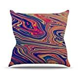 """KESS InHouse IR2005AOP03 18 x 18-Inch """"Ingrid Beddoes Soap and Water"""" Outdoor Throw Cushion - Multi-Colour"""