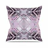 "KESS InHouse PS1025AOP03 18 x 18-Inch ""Pia Schneider Pink Spangles No.8 Purple Balck"" Outdoor Throw Cushion - Multi-Colour"