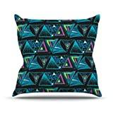 """KESS InHouse AS1004AOP03 18 x 18-Inch """"Anneline Sophia Its Complicated"""" Outdoor Throw Cushion - Multi-Colour"""
