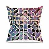 "KESS InHouse PS1033AOP03 18 x 18-Inch ""Pia Schneider Melange Of Circles III Pink Purple"" Outdoor Throw Cushion - Multi-Colour"