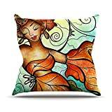 "KESS InHouse MM3039AOP03 18 x 18-Inch ""Mandie Manzano Cubana Dancing"" Outdoor Throw Cushion - Multi-Colour"