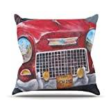 "KESS InHouse RB1013AOP03 18 x 18-Inch ""Rosie Brown Vintage in Cuba"" Outdoor Throw Cushion - Multi-Colour"