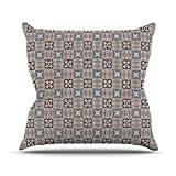 """KESS InHouse VN1038AOP03 18 x 18-Inch """"Vasare Nar African Nomad Brown Pattern"""" Outdoor Throw Cushion - Multi-Colour"""