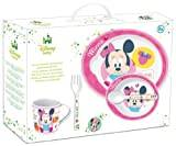 Stor 30579 Disney Minnie Baby Feeding Set of 5 Pieces with Plate, Bowl, Cup, Fork and Spoon, Pink