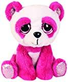 Suki Gifts Lil Peepers Fun Orchid Pink Panda Plush Toy with Silver Sparkle Accents (Small, Pink/White)