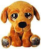 Suki Gifts Lil Peepers Fun Maggie Labrador Dog Plush Toy with Silver Sparkle Accents (Medium, Brown)