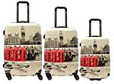 Saxoline Blue Luggage Set, MULTICOLOURED (Multicolour) - B09HC.17.09