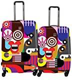 Saxoline Blue Luggage Set, MULTICOLOURED (Multicolour) - B06HC.14.09