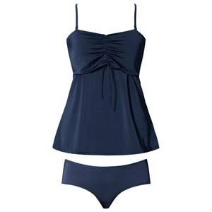 Girls Maternity Clothes Maternity swimwear Blue Fast Food Tankini Ink Blue
