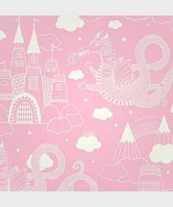 Majvillan Unisex Home accessories Pink Wallpaper Drakhimlen Pink