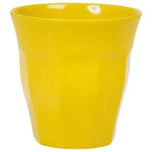 RICE A/S Unisex Norway Assort Tableware Yellow Melamine Medium Cup Yellow