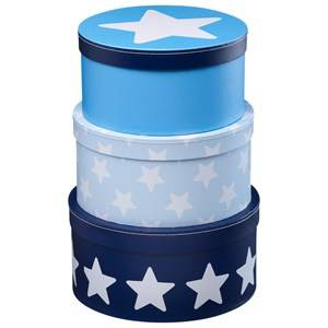 Kids Concept Unisex Storage Blue Boxes Round Star Blue