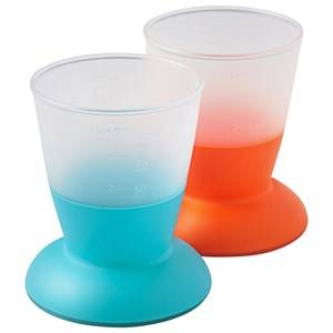 Babybjörn Unisex Baby Gear Baby feeding Multi Cup 2-Pack Orange/Turquoise