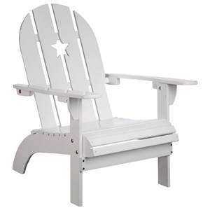 Kids Concept Unisex Furniture White White Patio Chair with Star