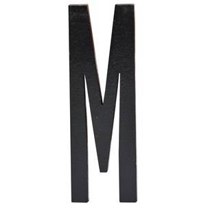 Design Letters Unisex Home accessories Black Black Wooden Letters M