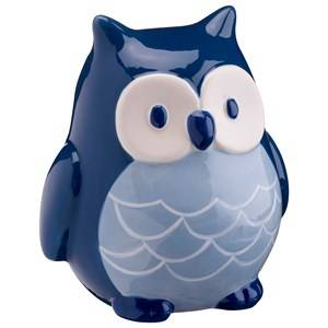 Kids Concept Unisex Storage Blue Money Bank Pumpkin Owl Blue