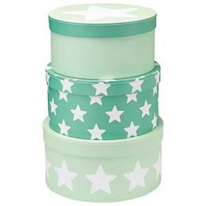 Kids Concept Unisex Storage Green 3-Set Storage Boxes Star Mint