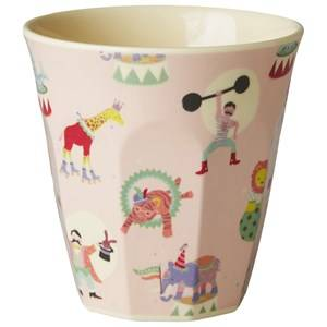 Rice Unisex Norway Assort Tableware Pink Small Melamine Cup Circus Print
