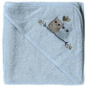 Baby Dan Boys Norway Assort Textile Blue Love Birds Hooded Bath Towel Blue