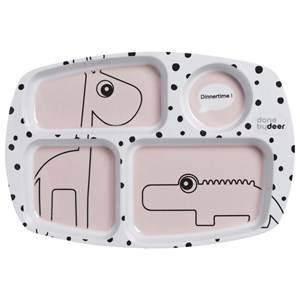 Done by Deer Unisex Norway Assort Tableware Pink Happy Dots Compartment Plate Powder