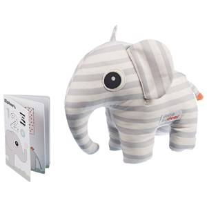 Done by Deer Unisex Soft toys Grey Elphee Soft Toy & Book Grey