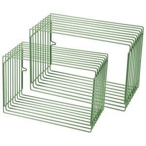 Done by Deer Unisex Home accessories Green Wire Rectangle Shelf 2 Pieces Green
