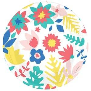My Little Day Unisex Tableware Multi 8 Paper Plates - Tropical Flowers