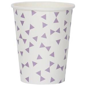 My Little Day Unisex Tableware Purple 8 Paper Cups - Lilac Bows