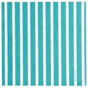 My Little Day Unisex Tableware Blue 20 Paper Napkins - Blue Stripes