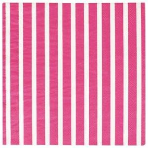 My Little Day Unisex Tableware Pink 20 Paper Napkins - Bright Pink Stripes