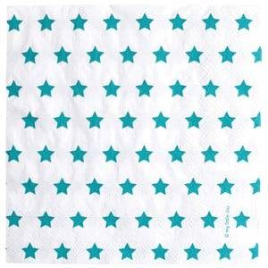 My Little Day Unisex Tableware Blue 20 Paper Napkins - Blue Stars