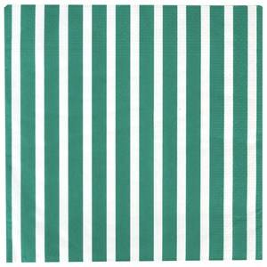 My Little Day Unisex Tableware Green 20 Paper Napkins - Dark Green Stripes