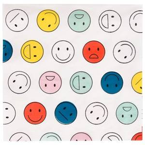 My Little Day Unisex Tableware Multi 20 Paper Napkins - Smiley