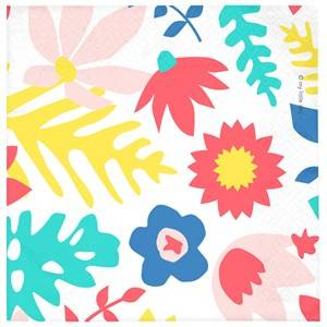 My Little Day Unisex Tableware Multi 20 Paper Napkins - Tropical Flowers