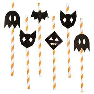My Little Day Unisex Tableware Multi 12 Paper Straws - Halloween
