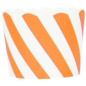 My Little Day Unisex Tableware Orange 25 Baking Cups - Orange Diagonals