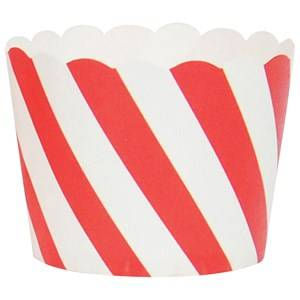 My Little Day Unisex Tableware Red 25 Baking Cups - Red Diagonals