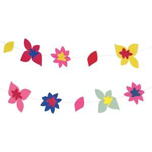 My Little Day Unisex Tableware Multi Theme Paper Garland - Tropical Flowers