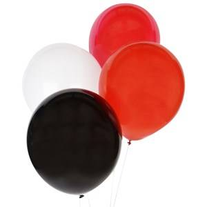 My Little Day Unisex Tableware Multi 10 Balloons Mix - Red