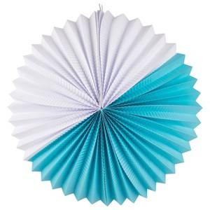 My Little Day Unisex Tableware Blue Paper Lantern - Turquoise & White