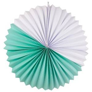 My Little Day Unisex Tableware Blue Paper Lantern - Aqua & White