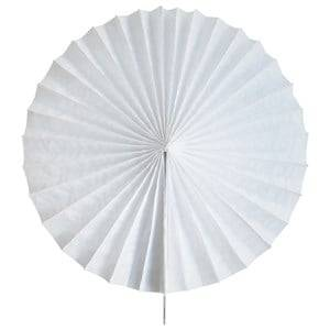 My Little Day Unisex Tableware White Paper Fan - White